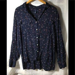 GAP Women's Blue Button up Blouse Size XL